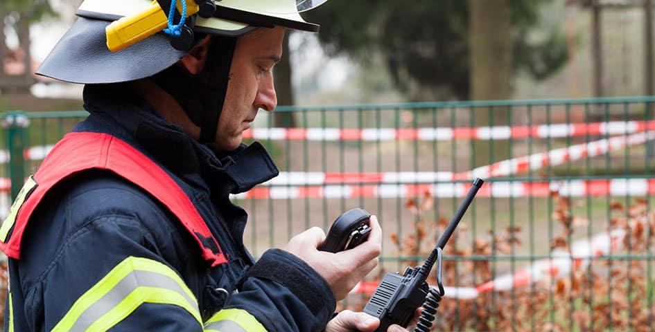 Public Safety Fireman Radio